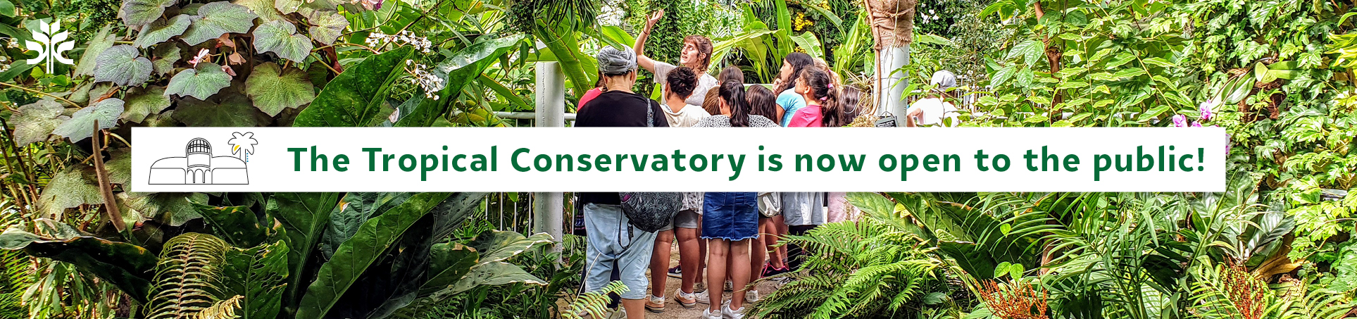 The conservatory is open to the public
